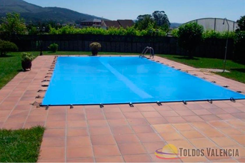 Lona cubre piscina toldos valencia for Cubiertas de lona para piscinas