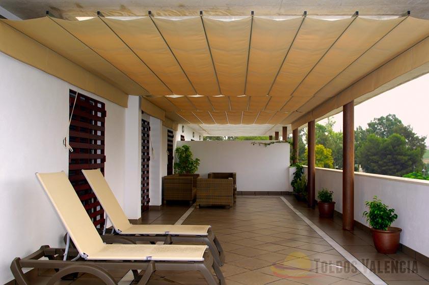 Toldo plano para terrazas toldos valencia - Toldos de tela para terrazas ...
