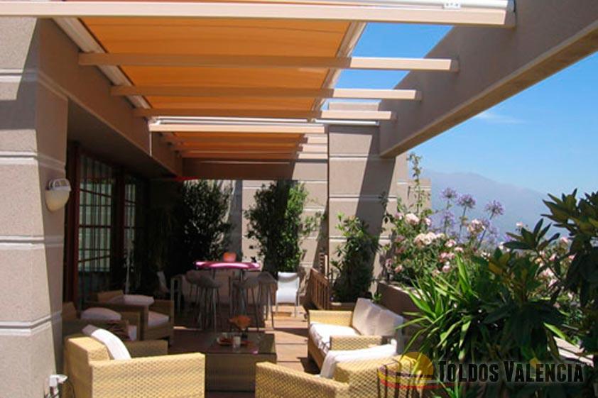 Toldo veranda toldos valencia - Toldos para lluvia ...