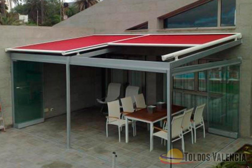 Toldo veranda toldos valencia for Toldos transparentes